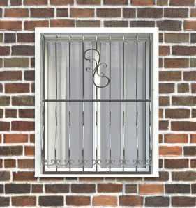 Фото 26 - Дутая решетка на окна ДТ0009.