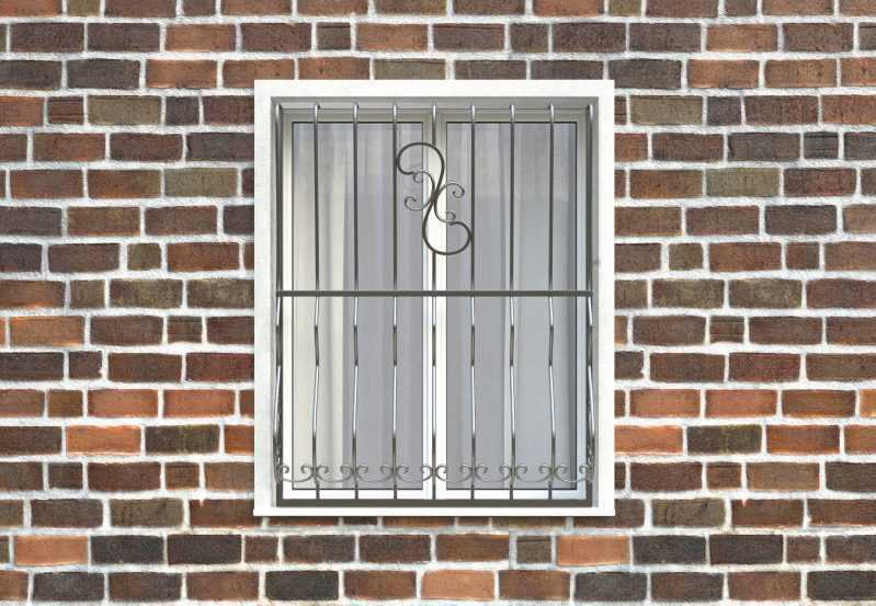 Фото 1 - Дутая решетка на окна ДТ0009.