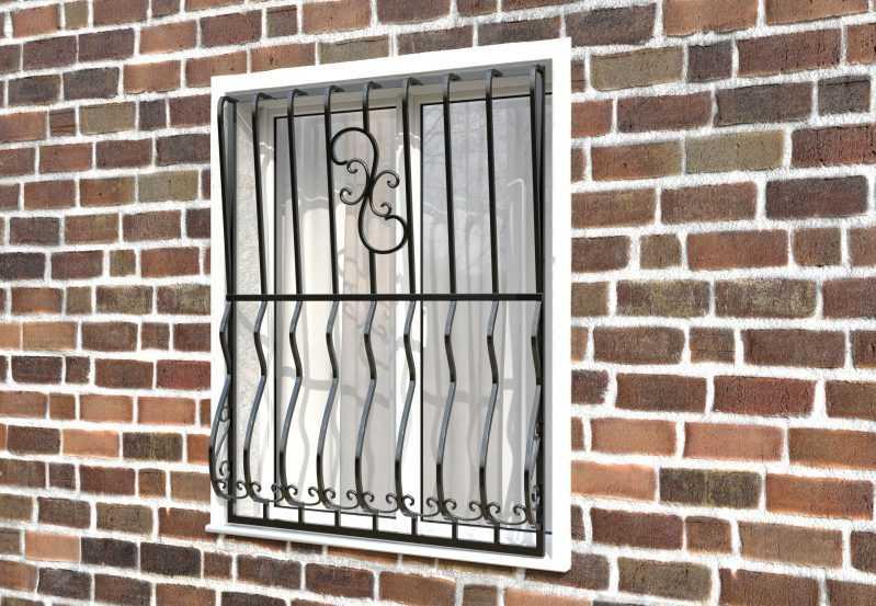 Фото 2 - Дутая решетка на окна ДТ0009.