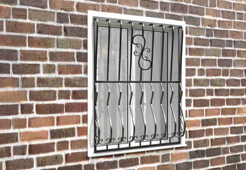 Фото 3 - Дутая решетка на окна ДТ0009.