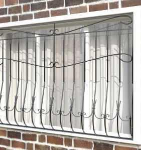 Фото 21 - Дутая решетка на окна ДТ0010.