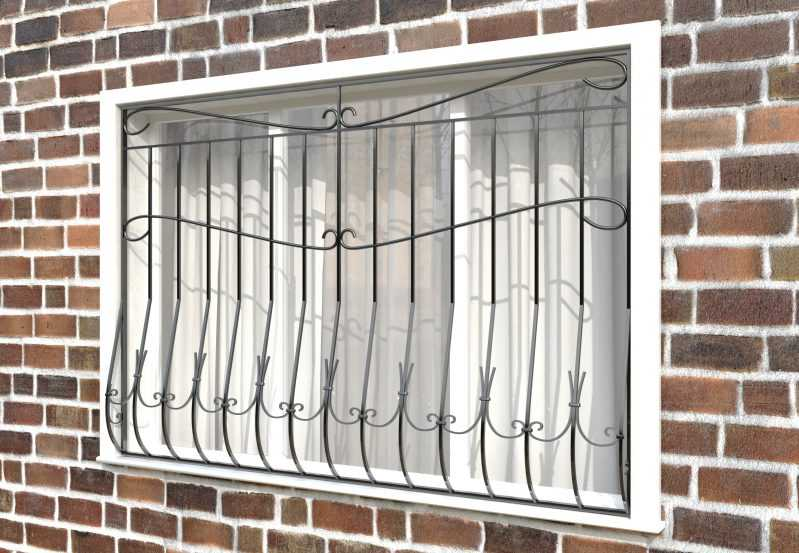 Фото 2 - Дутая решетка на окна ДТ0010.