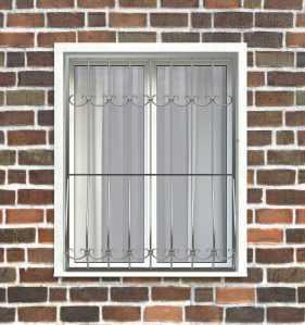 Фото 25 - Дутая решетка на окна ДТ0011.