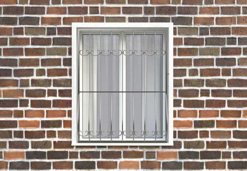Фото 1 - Дутая решетка на окна ДТ0011.