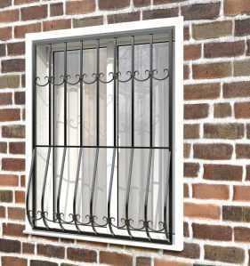 Фото 26 - Дутая решетка на окна ДТ0011.