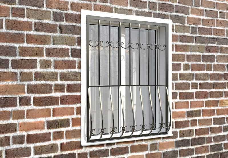 Фото 3 - Дутая решетка на окна ДТ0011.