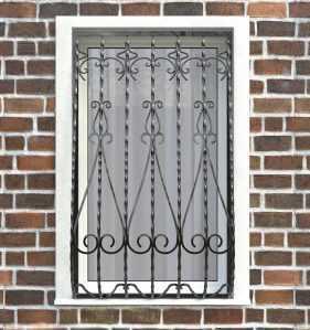 Фото 4 - Дутая решетка на окна ДТ0024.
