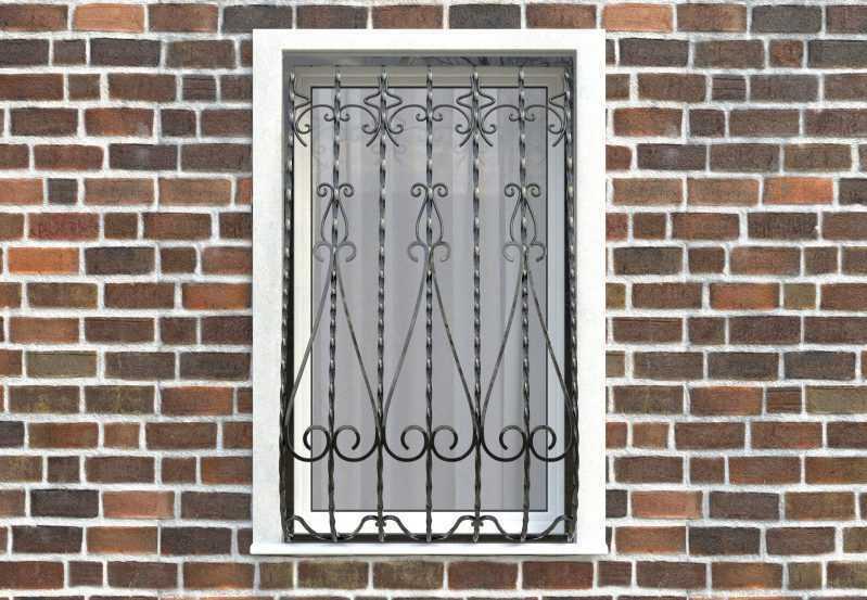 Фото 1 - Дутая решетка на окна ДТ0024.