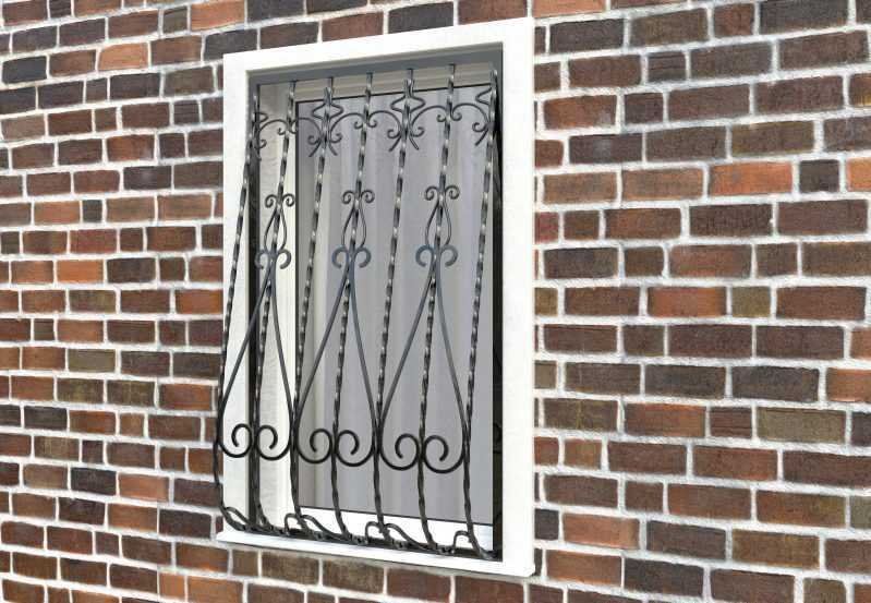 Фото 3 - Дутая решетка на окна ДТ0024.
