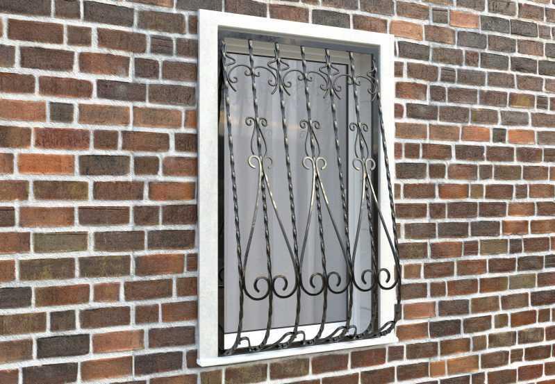 Фото 2 - Дутая решетка на окна ДТ0024.
