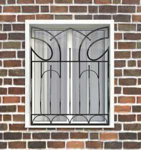 Фото 17 - Дутая решетка на окна ДТ0016.