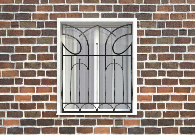 Фото 1 - Дутая решетка на окна ДТ0016.
