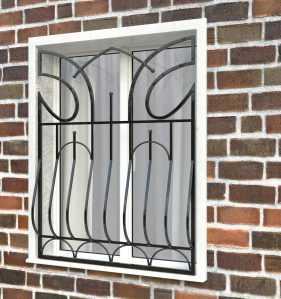 Фото 18 - Дутая решетка на окна ДТ0016.