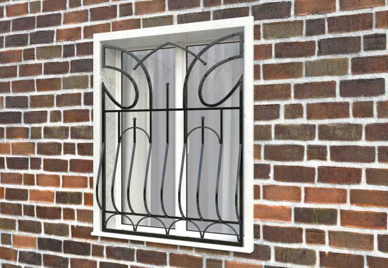 Фото 2 - Дутая решетка на окна ДТ0016.