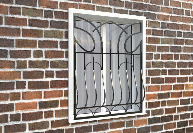 Фото 3 - Дутая решетка на окна ДТ0016.