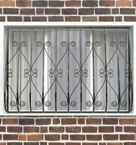 Фото 24 - Дутая решетка на окна ДТ0012.