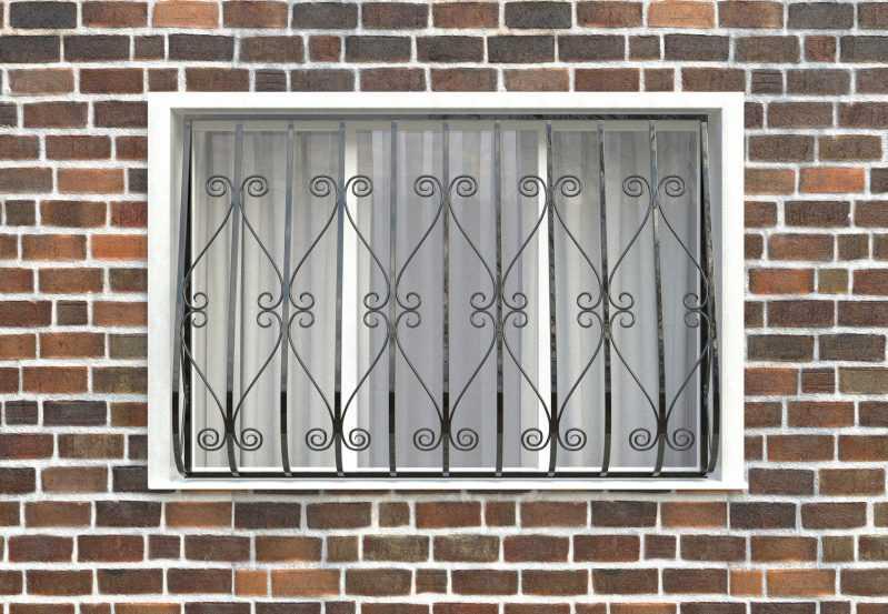 Фото 1 - Дутая решетка на окна ДТ0012.