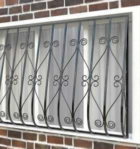 Фото 25 - Дутая решетка на окна ДТ0012.
