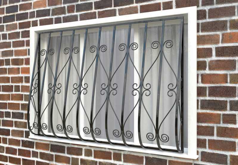 Фото 2 - Дутая решетка на окна ДТ0012.