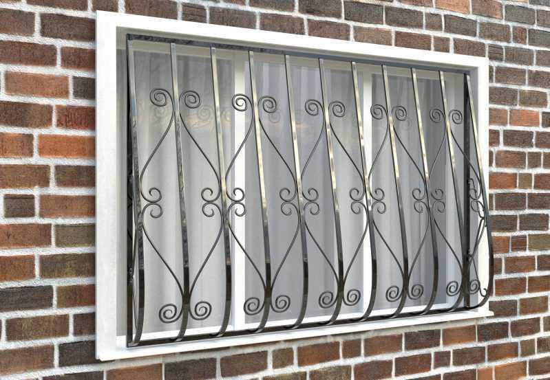 Фото 3 - Дутая решетка на окна ДТ0012.