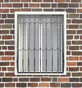 Фото 27 - Дутая решетка на окна ДТ0013.