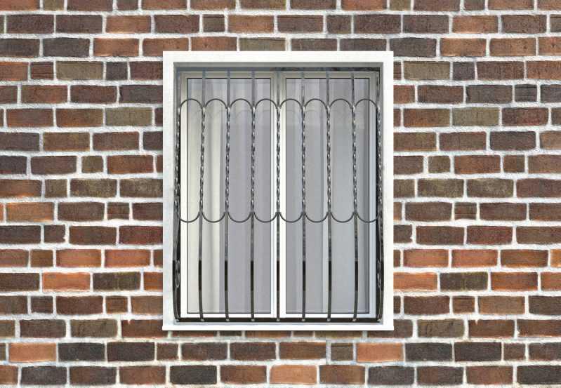 Фото 1 - Дутая решетка на окна ДТ0013.
