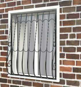 Фото 28 - Дутая решетка на окна ДТ0013.