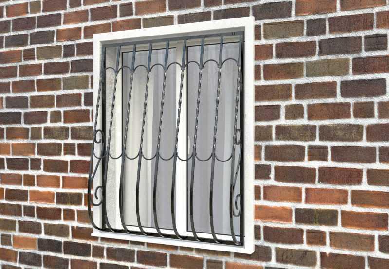 Фото 2 - Дутая решетка на окна ДТ0013.