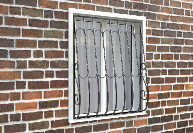 Фото 3 - Дутая решетка на окна ДТ0013.