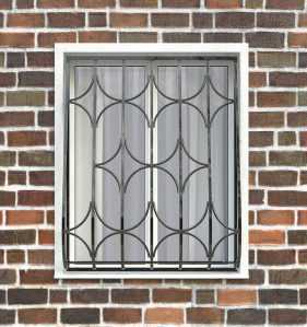 Фото 16 - Дутая решетка на окна ДТ0015.