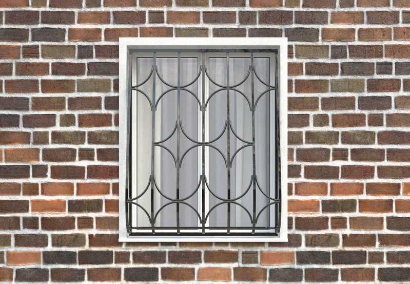 Фото 1 - Дутая решетка на окна ДТ0015.