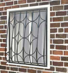 Фото 17 - Дутая решетка на окна ДТ0015.