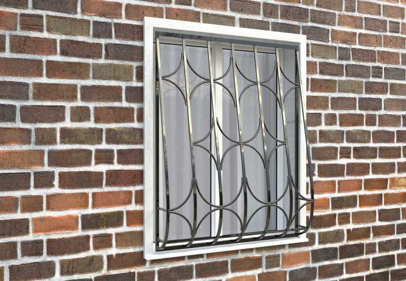Фото 3 - Дутая решетка на окна ДТ0015.