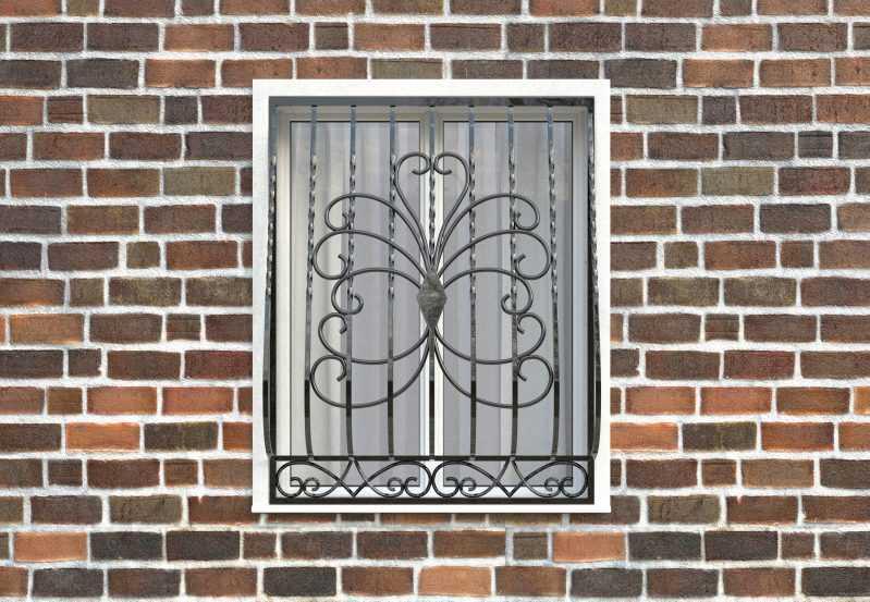 Фото 1 - Дутая решетка на окна ДТ0022.