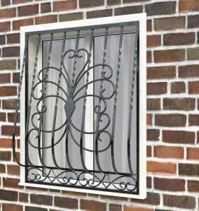 Фото 16 - Дутая решетка на окна ДТ0022.