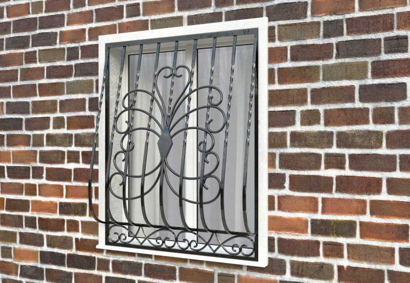 Фото 2 - Дутая решетка на окна ДТ0022.