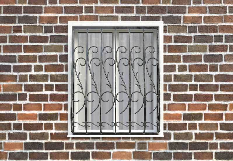 Фото 1 - Дутая решетка на окна ДТ0019.