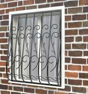 Фото 27 - Дутая решетка на окна ДТ0019.