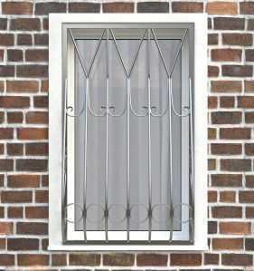 Фото 26 - Дутая решетка на окна ДТ0004.