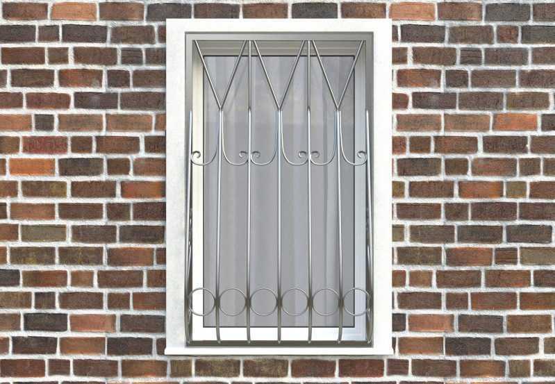 Фото 1 - Дутая решетка на окна ДТ0004.