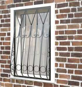 Фото 27 - Дутая решетка на окна ДТ0004.