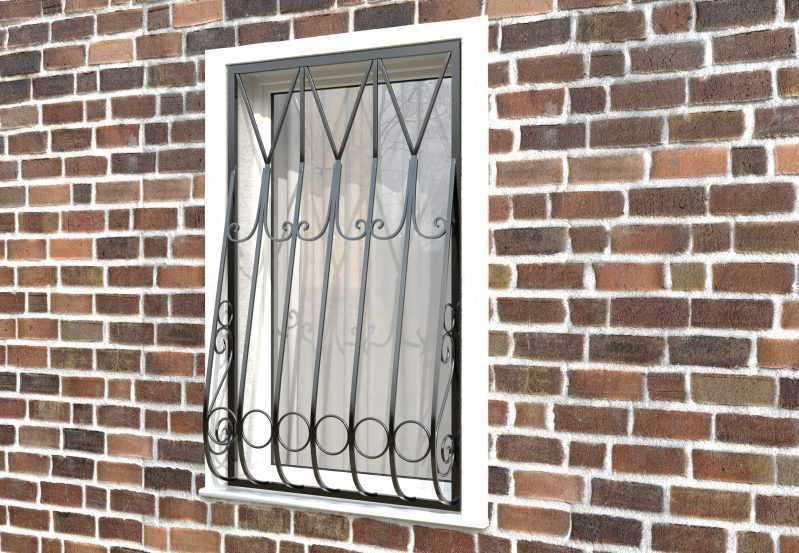 Фото 2 - Дутая решетка на окна ДТ0004.