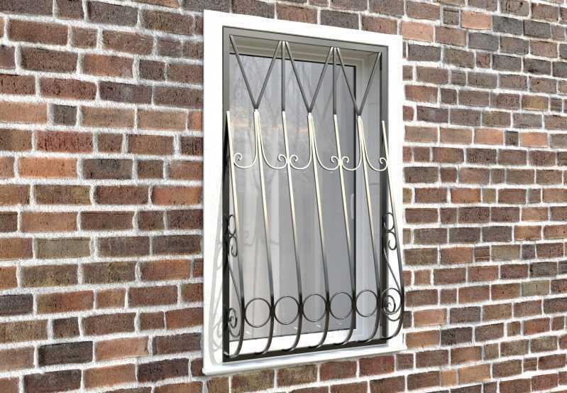 Фото 3 - Дутая решетка на окна ДТ0004.