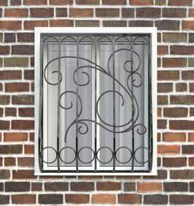Фото 18 - Дутая решетка на окна ДТ0031.