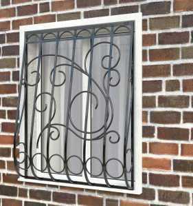 Фото 19 - Дутая решетка на окна ДТ0031.