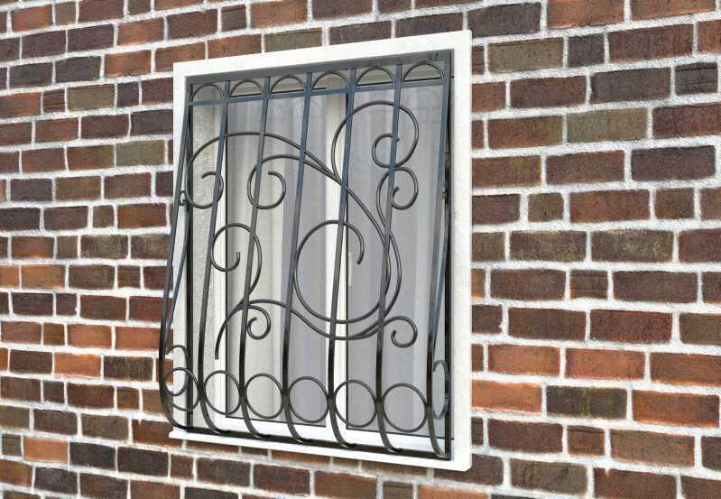 Фото 2 - Дутая решетка на окна ДТ0031.