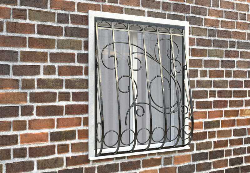 Фото 3 - Дутая решетка на окна ДТ0031.