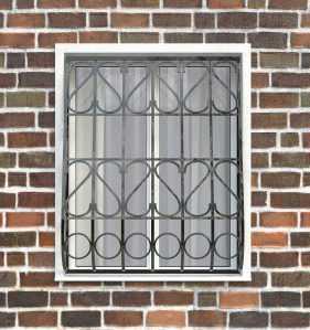 Фото 6 - Дутая решетка на окна ДТ0023.