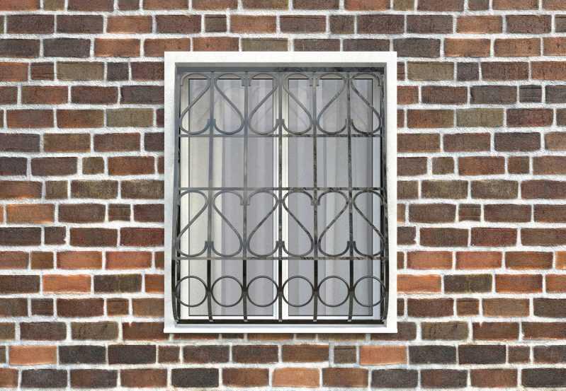 Фото 1 - Дутая решетка на окна ДТ0023.