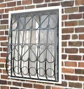 Фото 7 - Дутая решетка на окна ДТ0023.